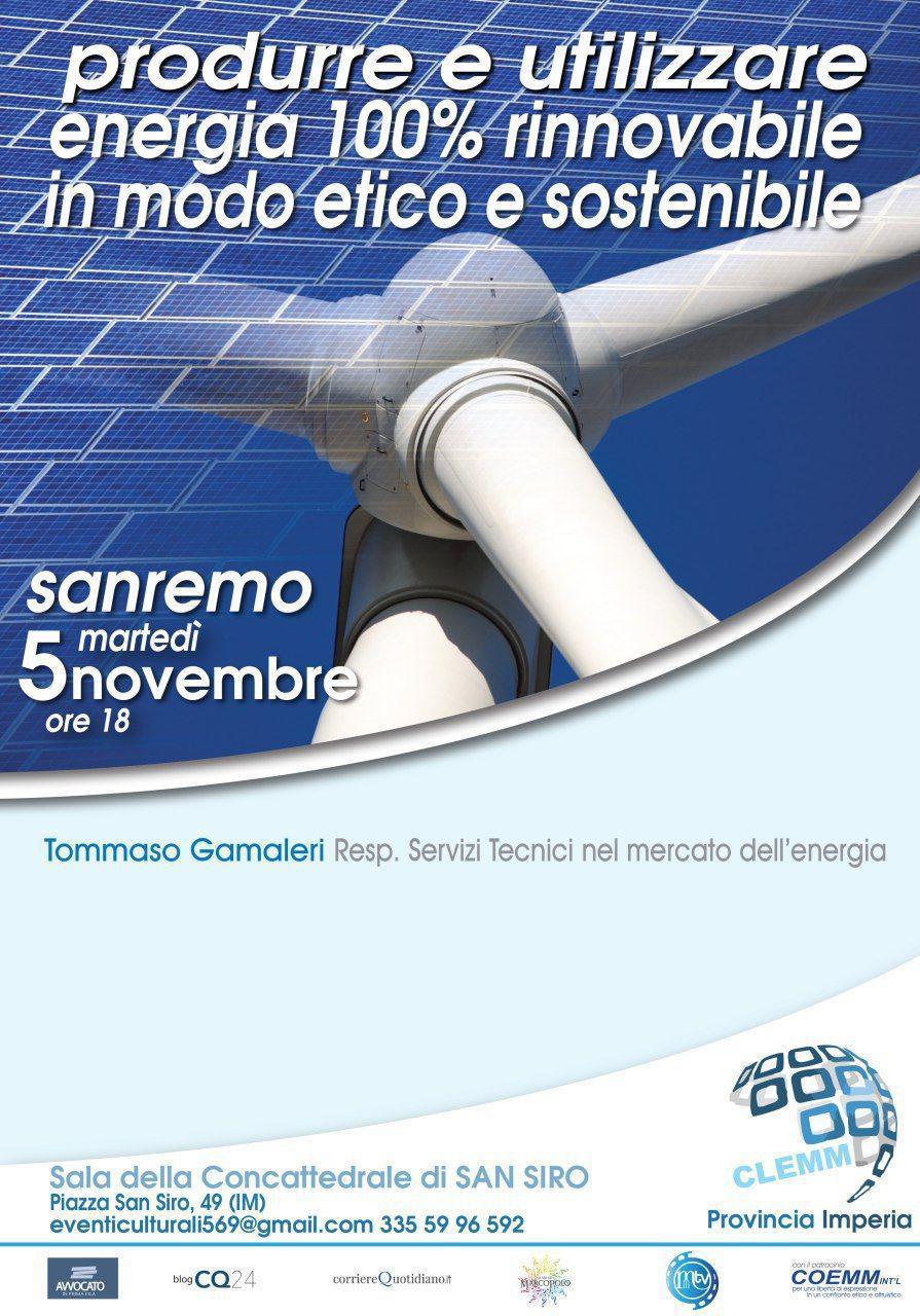 , Produrre e utilizzare energia 100% rinnovabile in modo Etico e Sostenibile, COEMM, COEMM