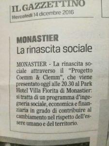, Da Il Gazzettino di Treviso 14 Dicembre 2016, COEMM