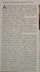 , Il Progetto COEMM spiegato a Monastier di Treviso – Articolo dicembre 2016., COEMM