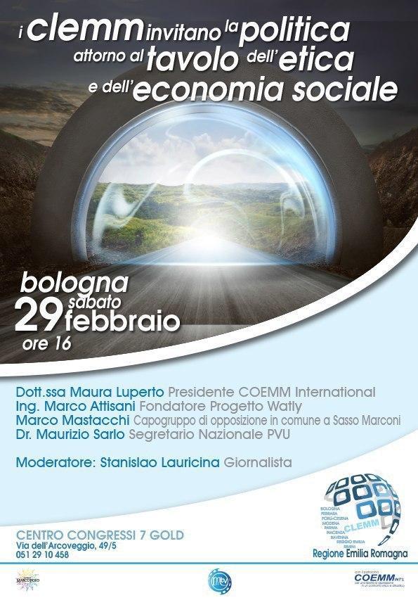 I CLEMM invitano la Politica attorno al Tavolo dell'Etica e dell'Economia Sociale.