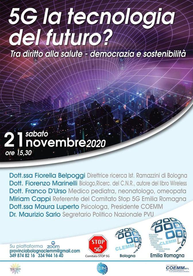 , 5 G la Tecnologia del Futuro?  Tra diritto alla Salute- Democrazia e Sostenibilità, COEMM