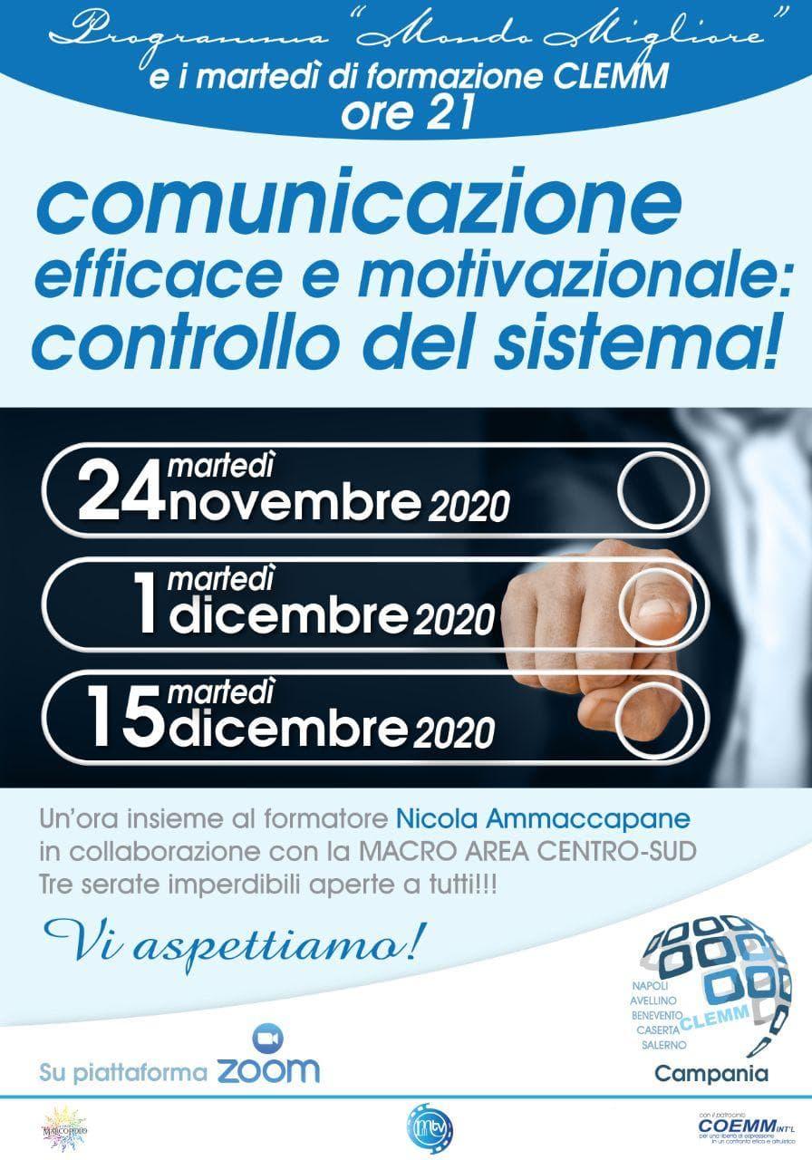 """, CLEMM Campania – """"I MARTEDÌ DI FORMAZIONE""""., COEMM"""