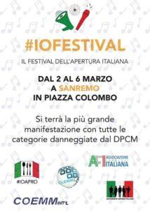 , #IoFestival – Un'iniziativa che parte dall'unione di quattro associazioni., COEMM