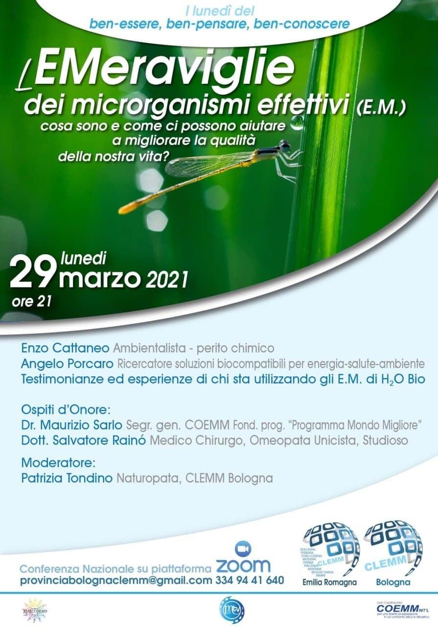 *LE MERAVIGLIE dei MICRORGANISMI EFFETTIVI (E. M.)*  Cosa sono e come ci possono  aiutare a migliorare la qualità della nostra vita?