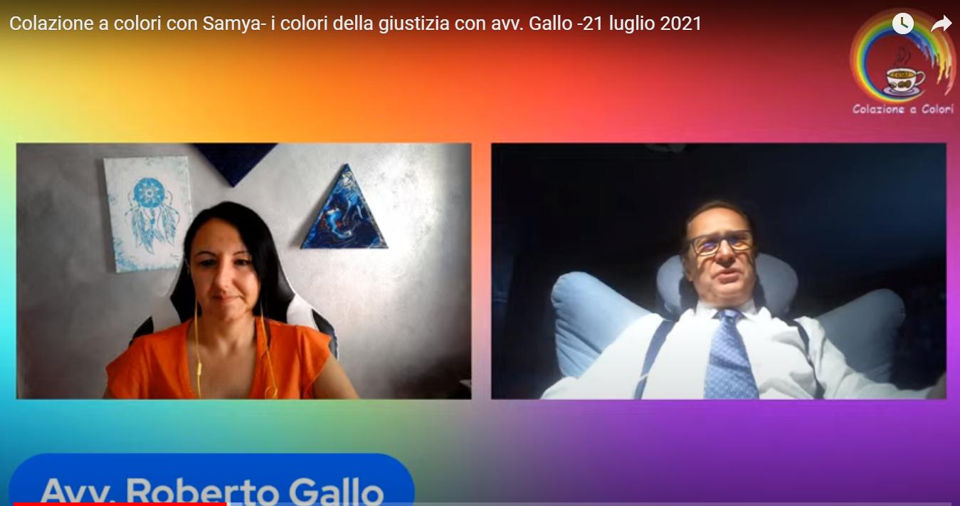 Maurizio Sarlo – Questa mattina alla Colazione a Colori di Samya Ilaria di Donato, è ospite l'Avv Roberto Gallo.