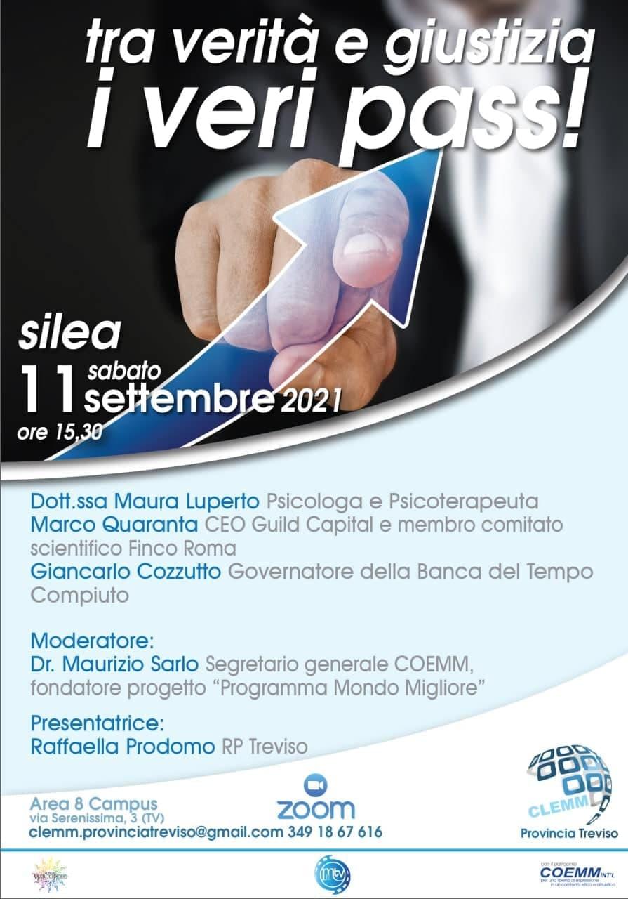 """, Maurizio Sarlo – Tra Verità e Giustizia: Con """"I VERI PASS""""!, COEMM"""