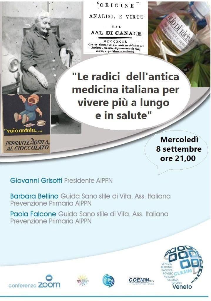 """💠""""Le radici dell'antica medicina italiana per vivere più a lungo e in salute""""💠"""