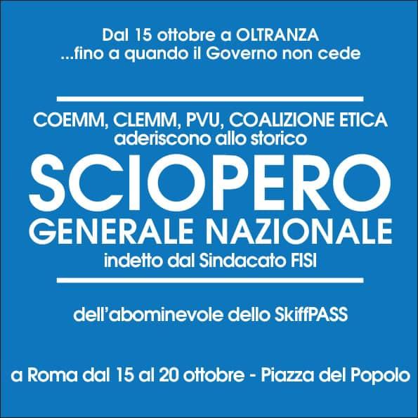 , Maurizio Sarlo – SCIOPERO GENERALE 15 – 20 OTTOBRE, PRECISAZIONI E MODALITA'., COEMM