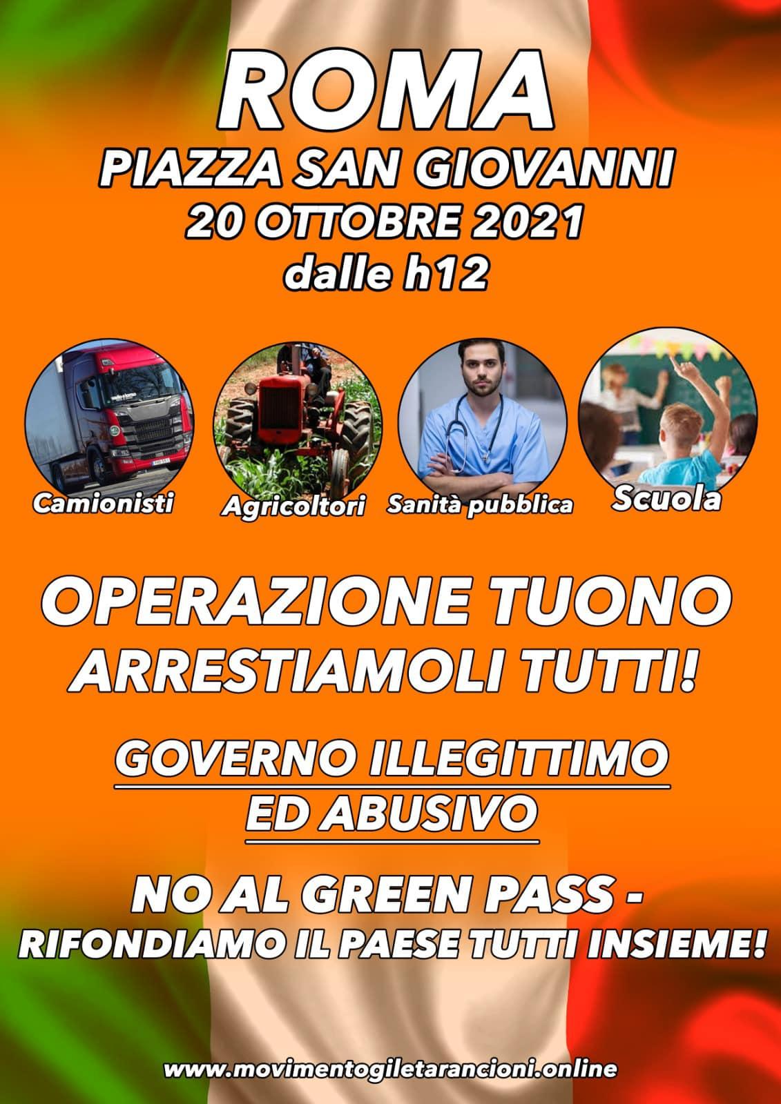 Maurizio Sarlo – Evoluzione 📍🇮🇹 Oggi, 15 ottobre 2021, presso i Porti più strategici d'Italia e il 20 ottobre in Roma, dobbiamo dare spazio alla prima ed etica Evoluzione della Storia!